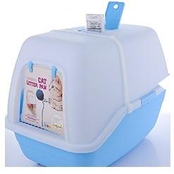 Туалет-домик для кошек с 2 лопатками, 58*42*42