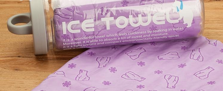 Охлаждающее полотенце для собак Ice Towel «Белый Мишка» в тубусе, 85*33