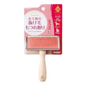 Щетка-пуходерка Petio розовая средняя (M)