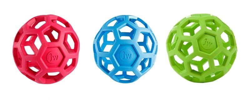 Игрушка для собак Мяч сетчатый JW, каучук, 8 см