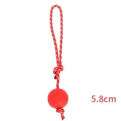 Мяч на веревке Hoopet, красный, 5,8 см