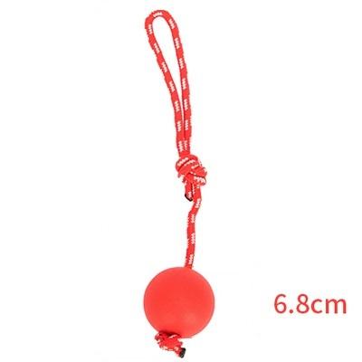 Мяч на веревке Hoopet, красный, 6,8 см