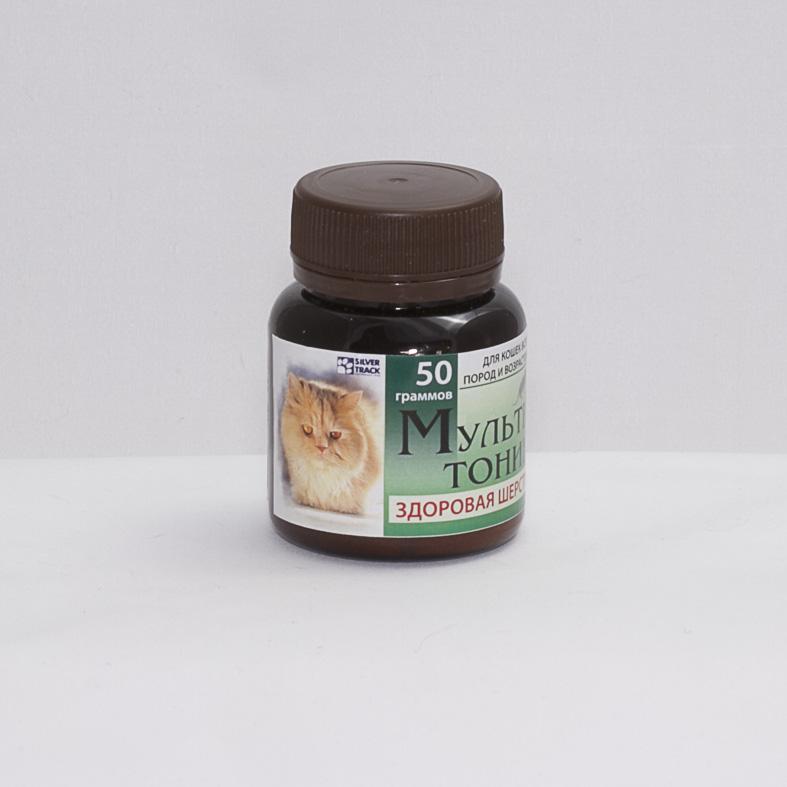 """Витаминно-минеральная добавка """"Мультитоник Здоровая шерсть"""", 50 гр."""