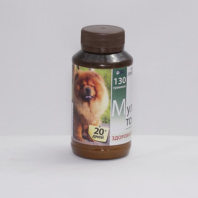 """Витаминно-минеральная добавка """"Мультитоник Здоровая шерсть"""", 130 гр."""