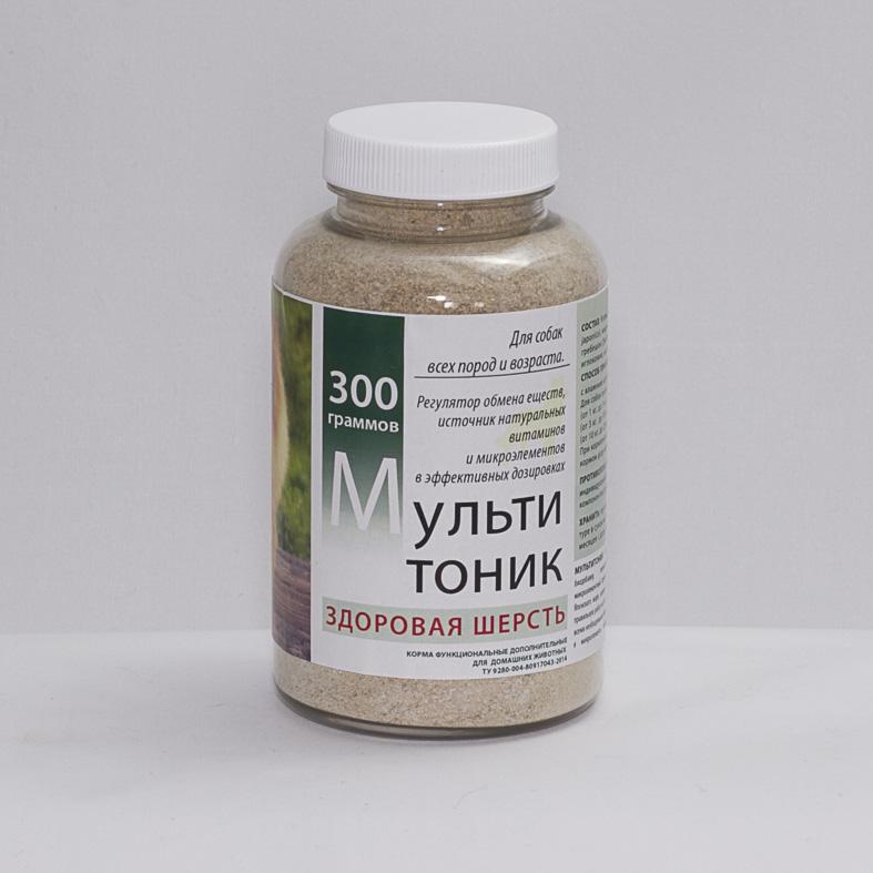 """Витаминно-минеральная добавка """"Мультитоник Здоровая шерсть"""", 300 гр."""