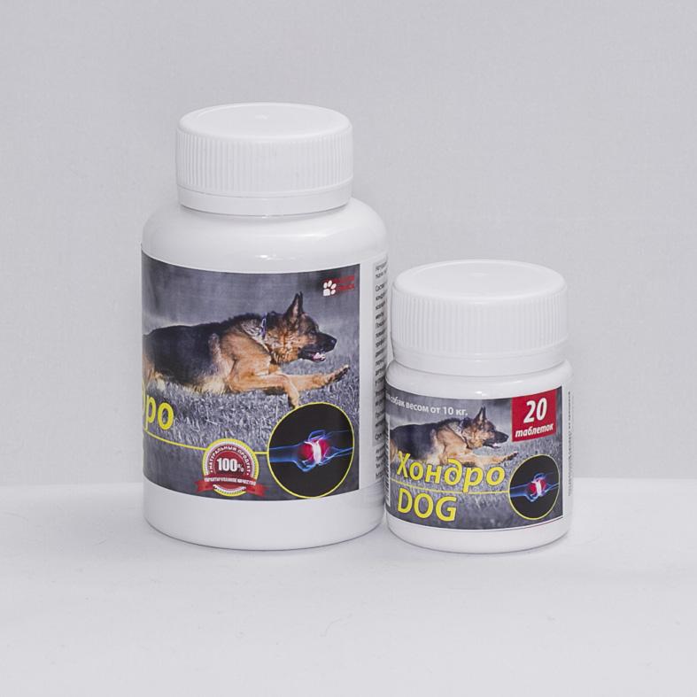 """Восстановитель суставов """"Хондро Dog"""" для средних пород собак и щенков, 20 табл."""