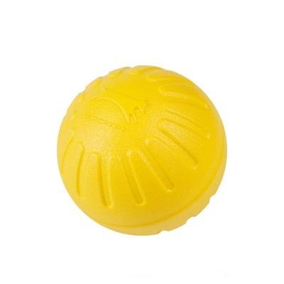 Мяч из вспененной резины, желтый, 7 см