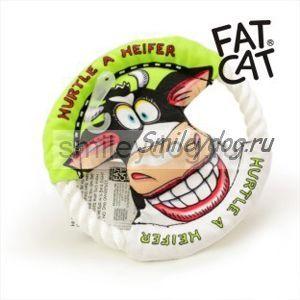 Игрушка КОРОВКА Fat Cat летающий диск 16 см