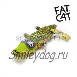 Игрушка КРОКОДИЛ Fat Cat с пищалкой