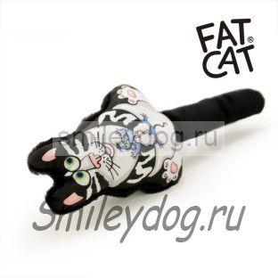 Игрушка КОТ черный Fat Cat с пищалкой
