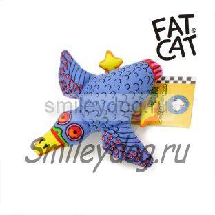 Игрушка УТКА синяя Fat Cat с пищалкой