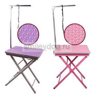 Стол грумерский 60*45*73/83 Chun Zhou фиолетовый/розовый/черный 06-N