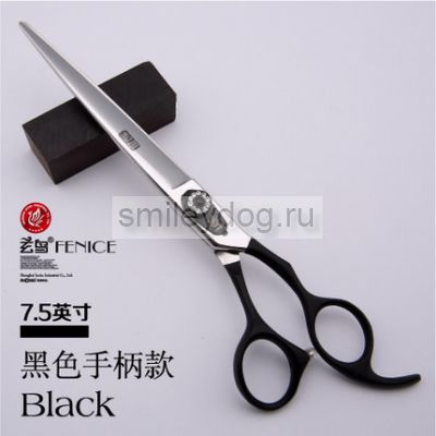 Ножницы прямые FENICE 7.5 дюймов Black 440C