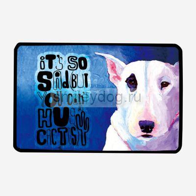 Коврик для собак с бультерьером 80*120 см