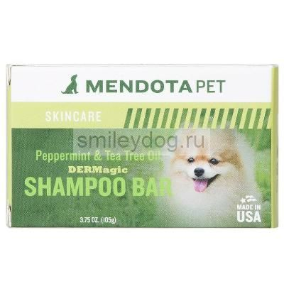 Шампунь твердый DERMagic масло мяты и чайного дерева Peppermint & Tea Tree Oil Organic Shampoo Bar