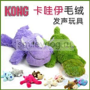 Kong игрушка мягкая Носорог / Крокодильчик